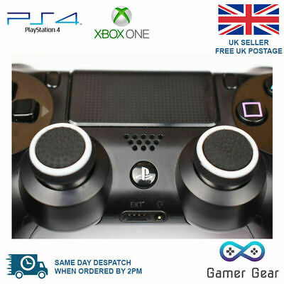 50 x Rubber Thumb Stick Cover Grip PS4 XBOX One Analog Controller B&W Wholesale