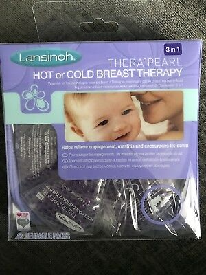Lansinoh Thera Pearl Hot Or Cold Breast Therapy Brand New!!