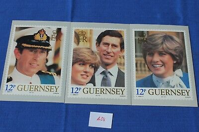 Prinz Charles of Wales and Lady Diana Spencer -1981 offiz. Postkarte Guernsey