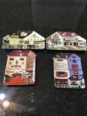 LOT SET 4 Charles Wysocki's Country Heartland Collector Plates BRADFORD # 1-4