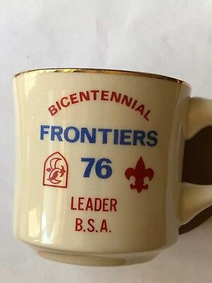 Vintage Boy Scouts Cup Bicentennial Frontiers 76 Leader Bsa