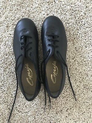 Capezio Tap Black Jazz Shoes For Girls Style Oxford Size M 5
