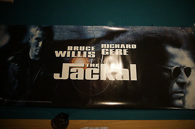 Day of the Jackal movie poster banner Richard Gere Bruce Willis 24 x 60 inch