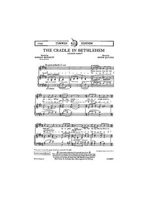 R. Quilter: The Cradle In Bethlehem Unison Piano Unison Voice SHEET MUSIC BOOK
