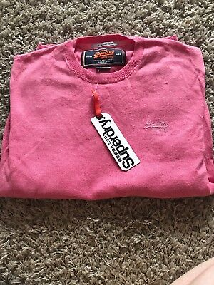 Over Mens Vintage Medium Superdry Smart Bnwt Pull Pink Jumper qwp40PWA