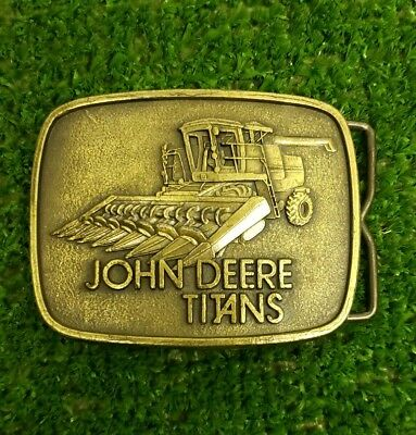 John Deere Titans Combine Belt Buckle 1980, New