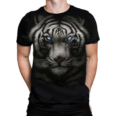 Liquid Blue - MAJESTIC WHITE TIGER - T-Shirt, sizes M - 2XL Nature, Wildlife,