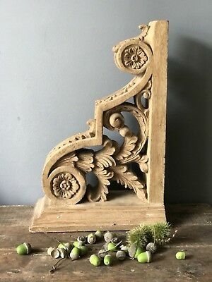 Antique Wooden Hand Carved Wall Bracket Base