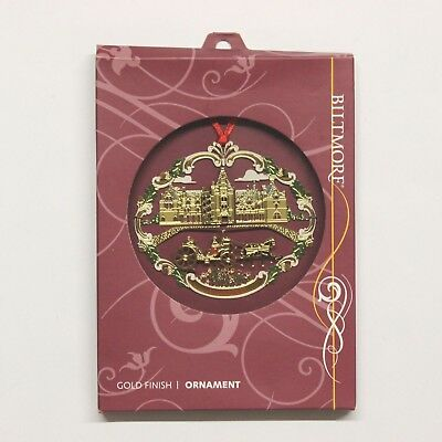 Biltmore Estate House Gold Finish Christmas Ornament - 2006