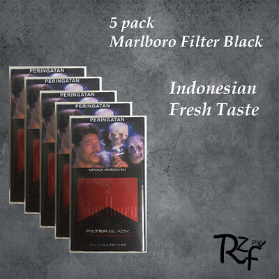 5x Marlboro Filter Black 20 Collectible Sealed Pack