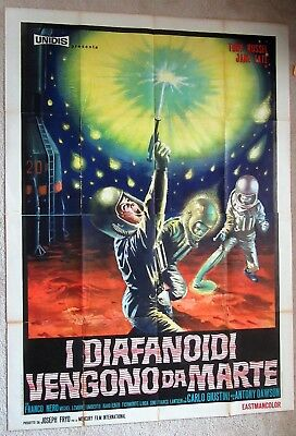 War Of The Planets Original 1966 Ital 2Pnl Movie Poster Folded Good