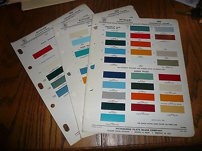 1964 Chevy GMC Dodge Ford Studebaker Commercial Ditzler PPG Paint Chips