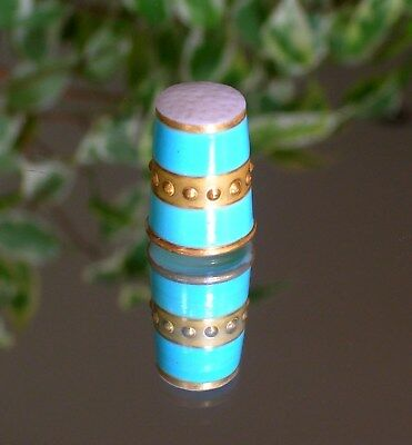 Thimble - Royal Worcester - Rare Antique Jewelled Collection - 19th Century