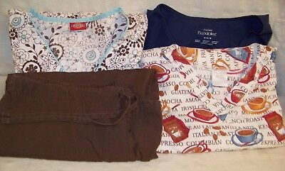 Scrubs - size M - lot of 8 - 7 tops & 1 pant - various brands, prints & solids