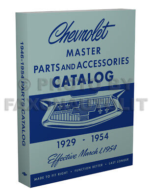 Chevrolet Master Teile Buch 1954 1953 1952 1951 1950 1949 1948 1947 1946 Chevy