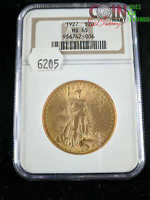 1927 U.s. $20 St. Gaudens Double Eagle Gold Coin Ngc Graded Ms65 #5667