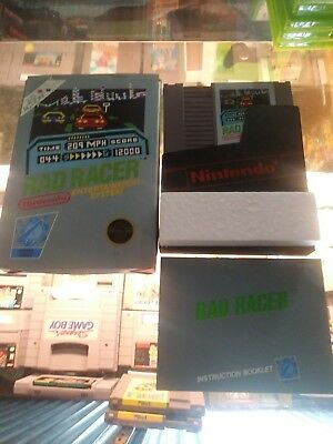 Rad Racer Nintendo NES Box Manual and game 5 screw variant. No 3d glasses.