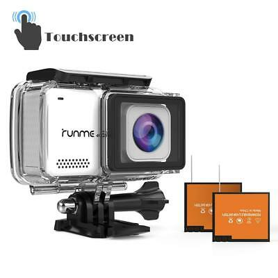 "RUNME R3 2.45"" Touchscreen 4K 16MP Wi-Fi Action Camera Waterproof New Sealed"