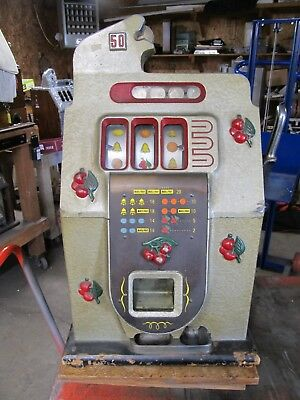 MILLS 50c BLACK CHERRY SLOT MACHINE