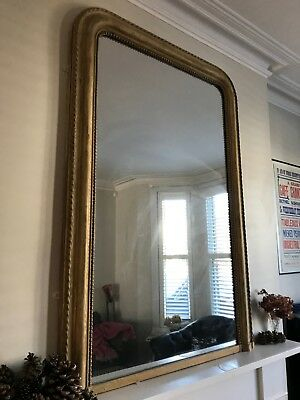 Victorian Antique Hardwood Wall Mirror