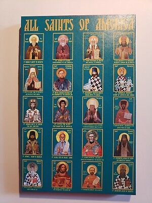 All Saints of America, orthodox icon, size 7 x 10, 10/16 inches