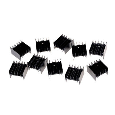 10Pcs 25*23*16MM TO220 Transistor Aluminum Radiator Heat Sink With 2Pin   FO
