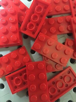 x25 NEW Lego Red Plates 4x4 Brick Building Red Baseplates
