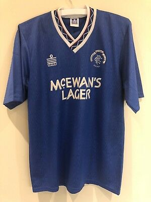Glasgow Rangers Vintage Retro Home Top 1990 - 1992 Admiral Adults Size 38/40