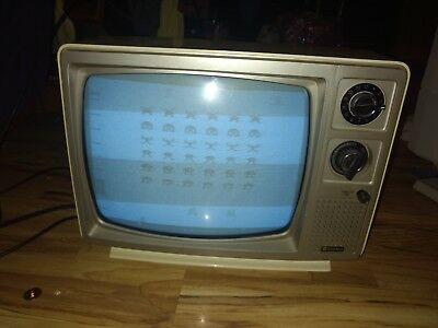 Vtg Sampo Black White Tv Model B 1241bw Old Portable Gaming