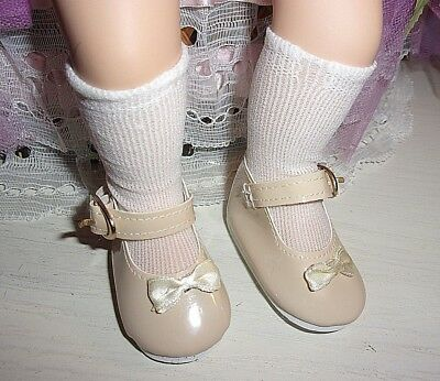 "Beige Patent Mary-Jane Shoes/socks Fit 14"" My Twinn Cuddly Sisters Dolls"