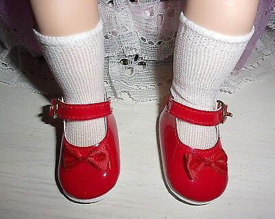 "Red Patent Mary-Jane Shoes/socks Fit 14"" My Twinn Cuddly Sisters Dolls"