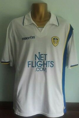 Leeds United 2009/10 Home Football Shirt Macron