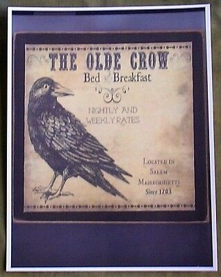 The Olde Crow Bed And Breakfast Salem Mass Since 1703 Reprint