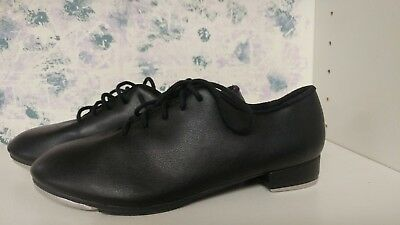 So Danca Black Girls Size 1 M Tap Shoes Leather