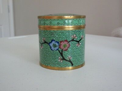 Vintage Cloisonne Cannister/humidor With Lid