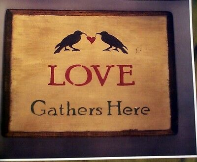 Love Gathers Here Shows 2 Crows Holding A Red Heart 11 X 14 Heavy Glossy Reprint