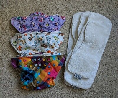 Rumparooz One-Size Cloth Diapers plus Inserts - Group of 3: Patterns