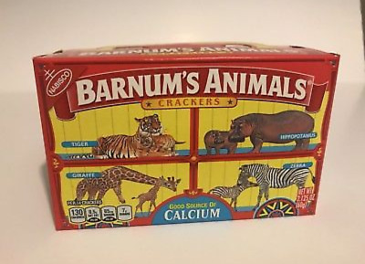 Barnum's Animals Crackers DISCONTINUED Box (NEW and In Date) ~ ONE BOX, 2.125 oz