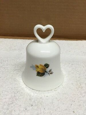 Gainsborough Bone China Yellow Rose Decorated Bell