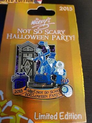 Disney 2015 Haunted Mansion ghosts Mickey's Not So Scary Halloween Party Pin LE