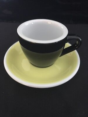 Vintage ACME Demitasse/Expresso Cup & Saucer. Cool Colors Signed (11 Available)