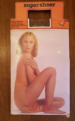 Vintage Super Sheer Pantyhose And Package - Pretty Nude Model Ample Espresso