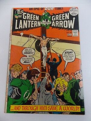 GREEN LANTERN # 89  1972  NEAL ADAMS art/cover crucifixion cover FN-