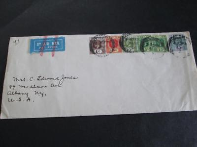 1934 Ceylon Air Mail Cover To Usa    Rs