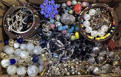 Huge Vintage - Now Jewelry Lot Estate Find Junk Drawer UNSEARCHED UNTESTED #539