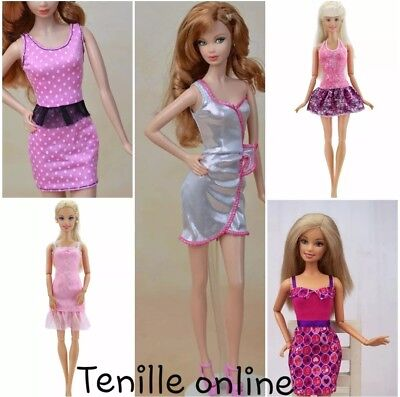 New Barbie doll outfits clothes dress x5  Aussie seller fast postage lot 1