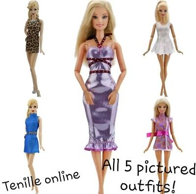 New Barbie doll outfits clothes dress x5  Aussie seller fast postage lot 2