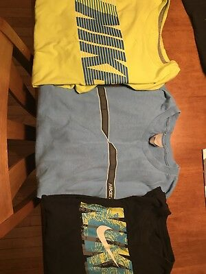 Mens Nike Logo Shirts-Lot Of 3-Excellent Used Condition