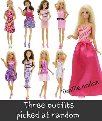 New Barbie doll outfits clothes dress x5  Aussie seller fast postage lot 3