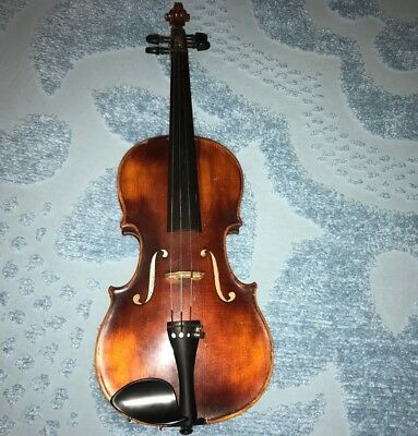 VINTAGE JOHN JUZEK 1/2 Size Violin Made in Germany Complete with Bow & Case